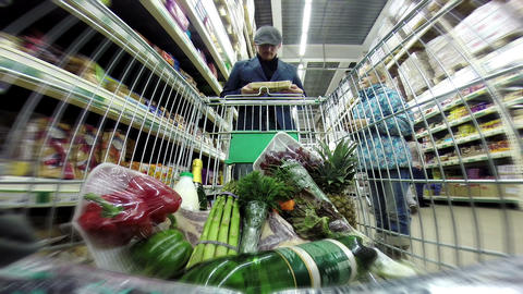 Shopping in the Supermarket HD Footage