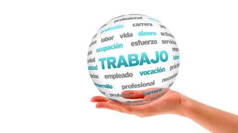 Work word sphere (In Spanish) Stock Video Footage