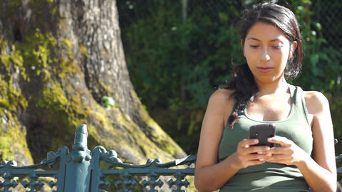 Young woman chatting Stock Video Footage