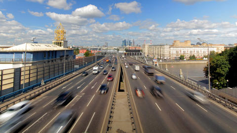Moscow highway car time lapse Footage