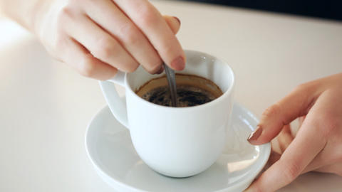 coffee with sugar Stock Video Footage