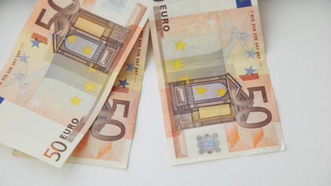 falling 50 euro money notes Stock Video Footage
