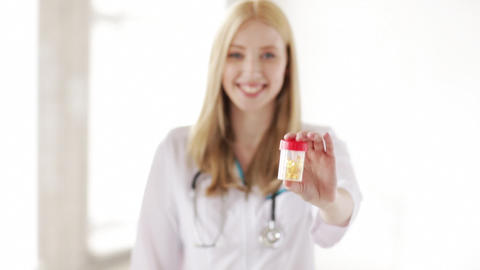 professional doctor showing medication pills Stock Video Footage