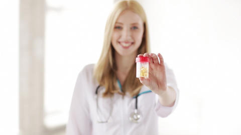 professional doctor showing medication pills Footage