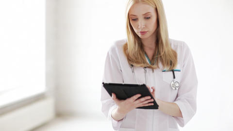 doctor working with tablet pc Stock Video Footage