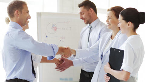 Business People Shaking Their Hands stock footage