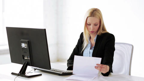 attractive office worker Stock Video Footage