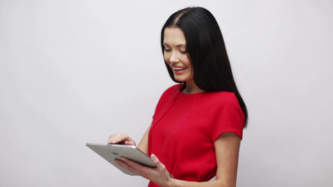 businesswoman or student with tablet pc Footage