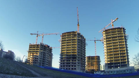 Construction Site Stock Video Footage
