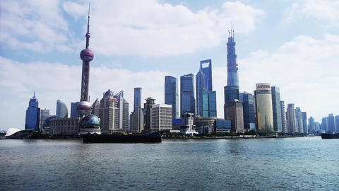 Shanghai Time Lapse,Lujiazui Financial Center,busy... Stock Video Footage