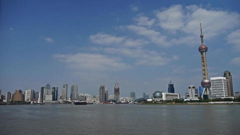 Shanghai bund & Oriental Pearl Tower,Lujiazui economic Center Animation
