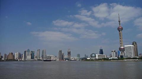Shanghai bund & Oriental Pearl Tower,Lujiazui... Stock Video Footage
