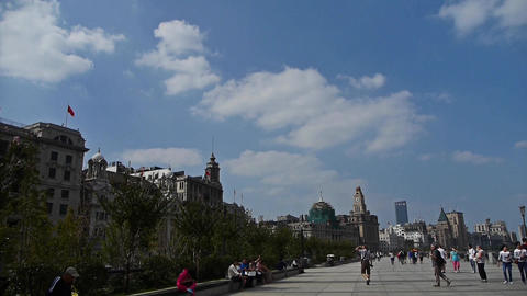 Shanghai Bund,huangpu river waterfront Animation