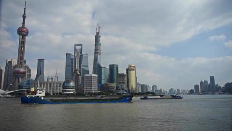 Shanghai Lujiazui business economic Center,urban building... Stock Video Footage