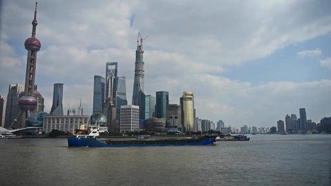 Shanghai Lujiazui business economic Center,urban building... Stock Video Footage