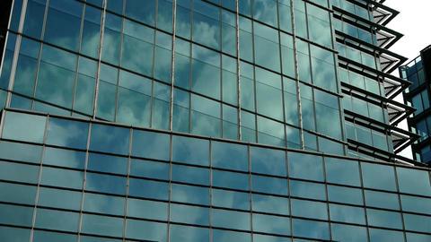 closeup skyscraper glass windows,urban morden business... Stock Video Footage