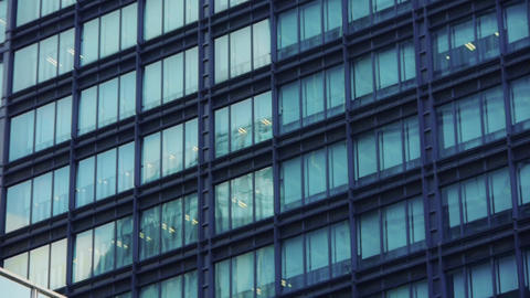 closeup skyscraper glass windows,urban morden business... Stock Video Footage