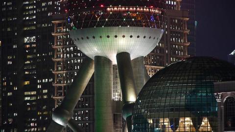 Shanghai night,closeup of pearl-town & Lujiazui... Stock Video Footage