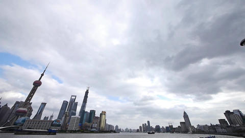 panoramic of Shanghai skyline,pudong Lujiazui financial... Stock Video Footage