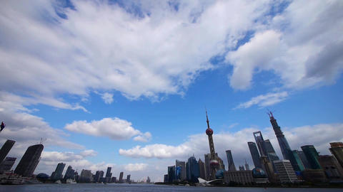 Shanghai skyline time lapse,pudong Lujiazui financial... Stock Video Footage