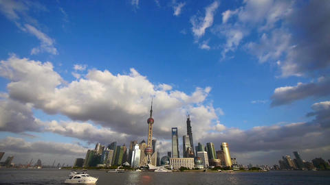 Shanghai skyline,world financial Centre & urban building Stock Video Footage