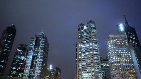 modern urban building,shanghai pudong economic center at... Stock Video Footage
