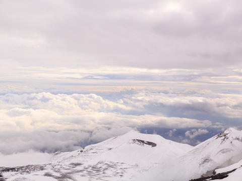 Dormant crater of Etna. Sicily, Italy. Time Lapse. Stock Video Footage