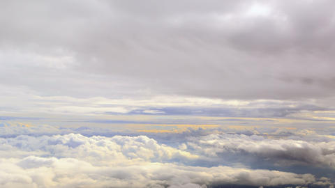 Between clouds. Time Lapse. 4K Stock Video Footage