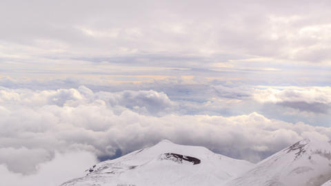 Dormant crater of Etna. Sicily, Italy. Time Lapse Stock Video Footage