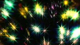 Close Up Multi Color Fiber Optic Christmas Tree Li stock footage