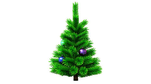 Christmas tree rotating on white background Stock Video Footage