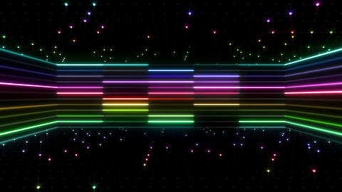 Neon tube R b D 4 HD Stock Video Footage