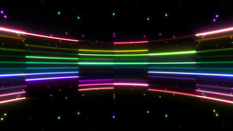 Neon tube R c B 4 HD, CG動画素材