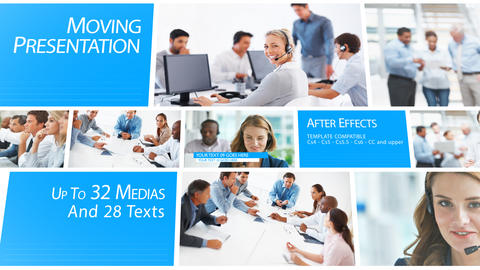 Moving Presentation - After Effects Template After Effectsテンプレート