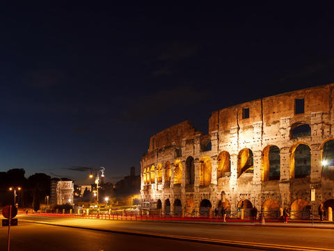 Colosseum at sunset. Rome, Italy. Time Lapse. 4x3 Stock Video Footage