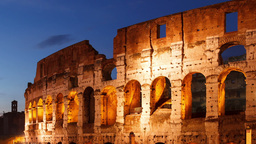 Colosseum at sunset. Rome, Italy. Time Lapse Stock Video Footage