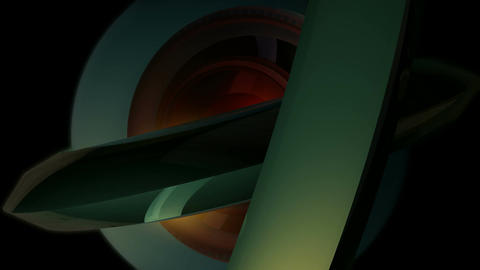 marble core orbits Stock Video Footage
