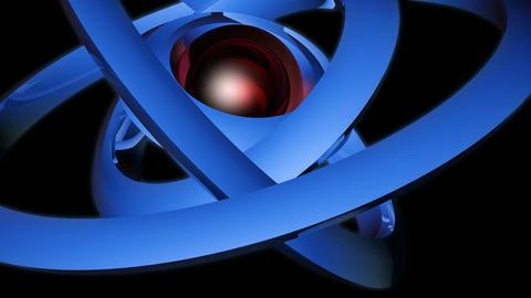 orbital neon sphere Stock Video Footage