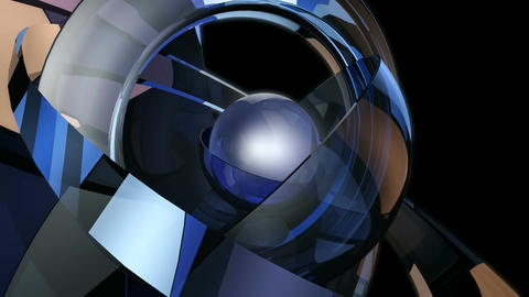 futuristic magic ball Stock Video Footage