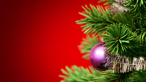beautiful Christmas tree background Animation