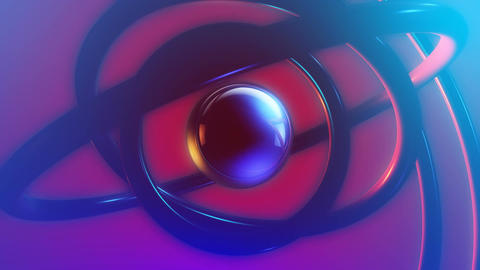 sphere orbit softlighs Stock Video Footage