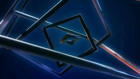 blue metal rings Stock Video Footage