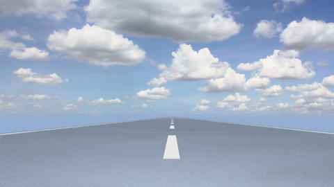 Road Cloudscape 01 stock footage