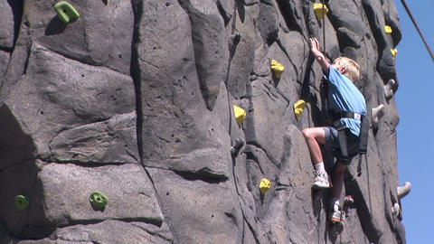 Rock Climbing Stock Video Footage
