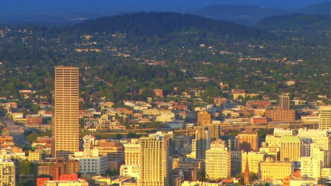 Portland, Oregon, Zoom Out Stock Video Footage