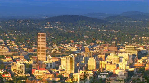 Portland, Oregon, Zoom Out Footage