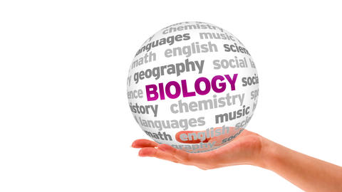 Biology Word Sphere Stock Video Footage