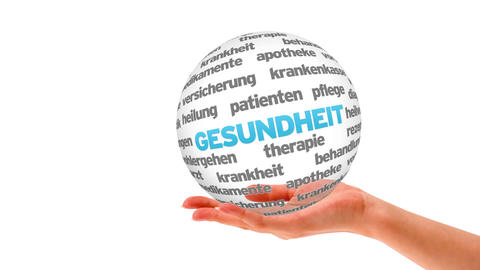 Health Word Sphere (In german) Animation
