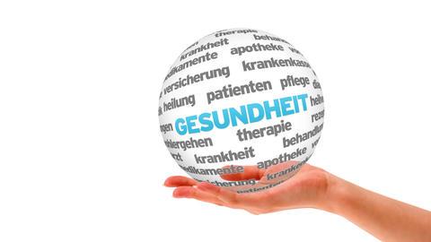 Health Word Sphere (In german) Animation
