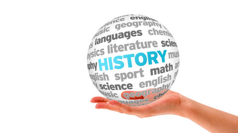 History Word Sphere stock footage
